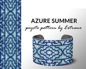 Peyote bracelet pattern, native peyote pattern,  native american, even peyote pattern, native stitch pattern, beaded bracelet  AZURE SUMMER