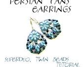 Superduo earrings tutorial, earrings pattern, superduo pattern, bollywood earrings tutorial, bollywood earrings pattern - PERSIAN FANS