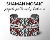 bracelet design, odd count peyote, stitch pattern, pdf pattern, bracelet peyote, peyote pattern, native american jewelry, huichol bracelet