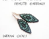 Peyote Earrings - INDIAN OVALS - Pattern ONLY without detailed instructions - Instant download