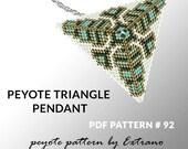 Peyote triangle pattern with instruction, native peyote pattern, native american pattern, native stitch, triangle peyote pendant #92