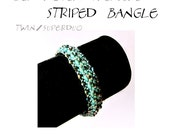 Bangle tutorial, bracelet pattern, Superduo bracelet, superduo tutorial, DIY jewelry, bangle, beading tutorial - STRIPED BANGLE, pdf pattern