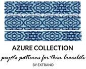 Peyote bracelet patterns, uneven peyote pattern, mosaic peyote pattern, navy american peyote pattern, bracelet tutorial AZURE COLLECTION