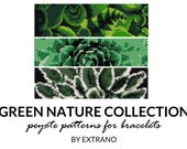 Peyote bracelet patterns, even peyote pattern, nature peyote pattern, native american peyote pattern, pdf tutorial GREEN NATURE COLLECTION