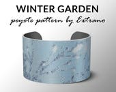 Peyote pattern, bracelet pattern, peyote bracelet, even peyote stitch pattern, delica pattern, 8 colors, PDF, instant download - BLUE GARDEN