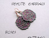 Peyote Earrings - ROSES - Pattern ONLY without detailed instructions - immediate download