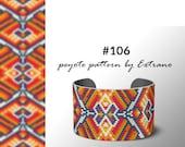 Peyote bracelet pattern, native peyote pattern, odd count, native american pattern, native stitch, pdf pattern, beaded bracelet #106