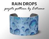 Peyote Bracelet Patterns by Extrano - RAIN DROPS - 4 colors ONLY - Instant download