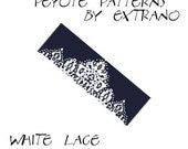 Bracelet peyote pattern, peyote bracelet, even peyote stitch pattern, delica pattern, 2 colors, instant download PDF -  WHITE LACE
