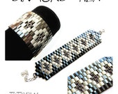 Bracelet tutorial, wide cuff pattern, bracelet pattern, Tila bracelet, Tila beads tutorial, DIY jewelry, beading tutorial - DIAMOND TILA