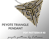 Peyote triangle pattern with instruction, peyote triangle instruction, triangle peyote pattern, native stitch, triangle peyote pendant #40
