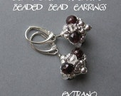 Beaded bead tutorial, beaded bead earrings, beaded jewelry, spherical earrings pattern, earrings pattern, round earrings - BEADED BEAD