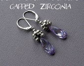 Beaded earrings tutorial, long earrings tutorial, long earrings pattern, earrings pattern, beaded cap for beads tutorial - CAPPED ZIRCONIA
