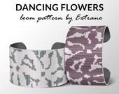 Bead Loom Pattern, Loom Tutorial, Beading Pattern, Loom Beading Pattern, Bracelet Tutorial, Bracelet Pattern, Loom Pattern - DANCING FLOWERS