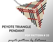 Peyote triangle pattern with instruction, native peyote pattern, native american pattern, native stitch, triangle peyote pendant #33