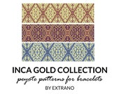 Beading pattern, pattern for bracelet, peyote pattern, peyote bracelet, bracelet pattern, peyote native, uneven peyote - INCA COLLECTION