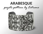 Peyote pattern bracelet, uneven peyote pattern, even peyote stitch, peyote pattern, DIY jewelry - ARABESQUE - 4 colors - Instant download