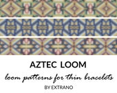 Loom bracelet patterns, thin bracelet pattern, loom stitch pattern, loom pattern, native americandesign, aztec bracelets patterns AZTEC LOOM