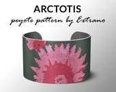 Peyote pattern bracelet, wide cuff pattern, even peyote stitch, peyote pattern, DIY jewelry - ARCTOTIS  - 4 colors ONLY - Instant download