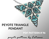 Peyote triangle pattern with instruction, native peyote pattern, native american pattern, native stitch, triangle peyote pendant #96