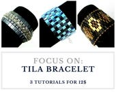 Beading tutorial for bracelet, TILA BRACELET tutorial, elegant bracelet pattern, tila beads tutorial, beading: 3 tutorials for 12.00