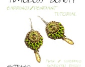 Superduo earrings tutorial, rivoli earrings, earrings tutorial, earrings pattern, superduo pattern, seed bead earrings - TIMELESS BEAUTY
