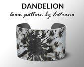Bead Loom Pattern, Loom Tutorial, Beading Pattern, Loom Beading Pattern, Bracelet Pattern, Loom Pattern, 4 col DANDELION - Instant download