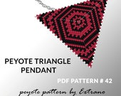 Peyote triangle pattern with instruction, native peyote pattern, native american pattern, native stitch, triangle peyote pendant #42
