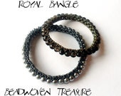 Bracelet tutorial, bangle tutorial, DIY jewelry, bracelet pattern, bangle pattern, seed bead tutorial - ROYAL BANGLE - instant download