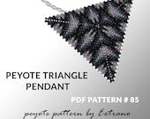 Peyote triangle pattern with instruction, peyote triangle instruction, triangle peyote pattern, native stitch, triangle peyote pendant #85