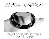 Bead crochet necklace,  pattern,  bead crochet, rope pattern, seed beads pattern, floral pattern, bracelet pattern - BLACK GARDEN