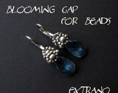 Beaded earrings tutorial, long earrings tutorial, long earrings pattern, earrings pattern, beaded cap for beads tutorial - BLOOMING CAP