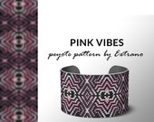 Peyote pattern bracelet, uneven peyote pattern, even peyote stitch, peyote pattern, native jewelry, spiritual jewelry, peyote PINK VIBES