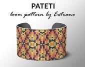 Bead Loom Pattern, Loom Tutorial, Beading Pattern, Loom Beading Pattern, Bracelet Tutorial, Bracelet Pattern, Loom Pattern - PATETI
