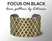 Bead Loom Pattern, Loom Tutorial, Beading Pattern, Loom Beading Pattern, Bracelet Tutorial, Bracelet Pattern, Loom Pattern, FOCUS ON BLACK