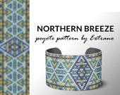 Mosaic peyote bracelet design, odd count peyote, bracelet peyote, peyote pattern, native american jewelry, huichol bracelet NORTHERN BREEZE