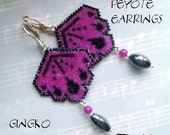 Peyote Earrings - GINGKO - Pattern ONLY without detailed instructions - Instant download