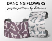 Peyote Bracelet Patterns by Extrano - DANCING FLOWERS - 2 colors ONLY - instant download