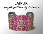 Peyote bracelet pattern, uneven peyote pattern, mosaicpeyote pattern, peyote pattern, DIY jewelry - JAIPUR - 6 colors only, Instant download