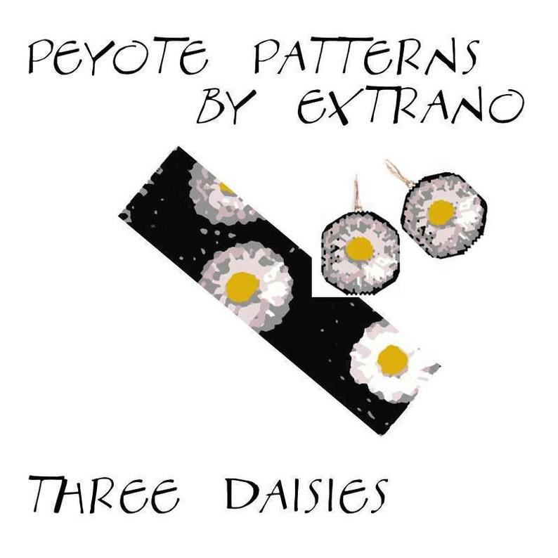 Peyote bracelet pattern wide cuff pattern jewelry set image 0