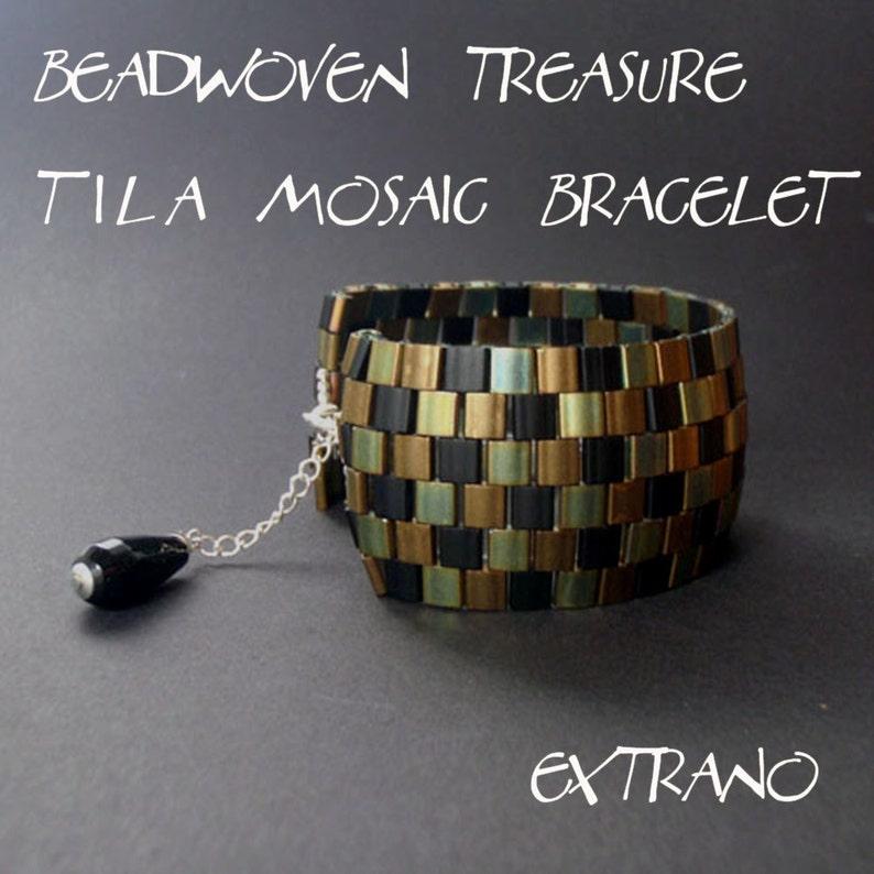 Bracelet tutorial wide cuff pattern bracelet pattern Tila image 0