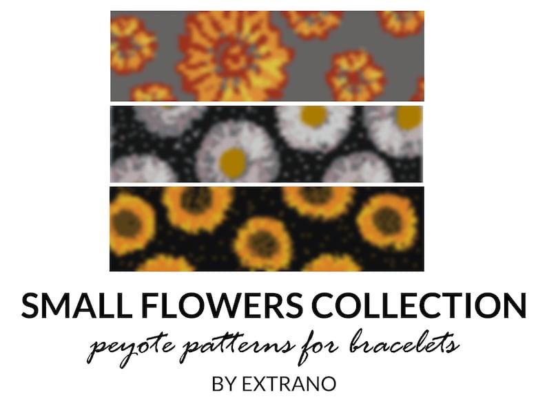 Peyote bracelet patterns even peyote pattern floral peyote image 0