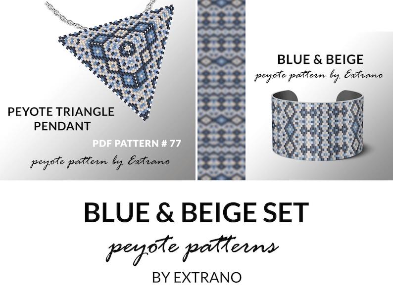 Bracelet with pendant pattern peyote tutorial uneven peyote image 0