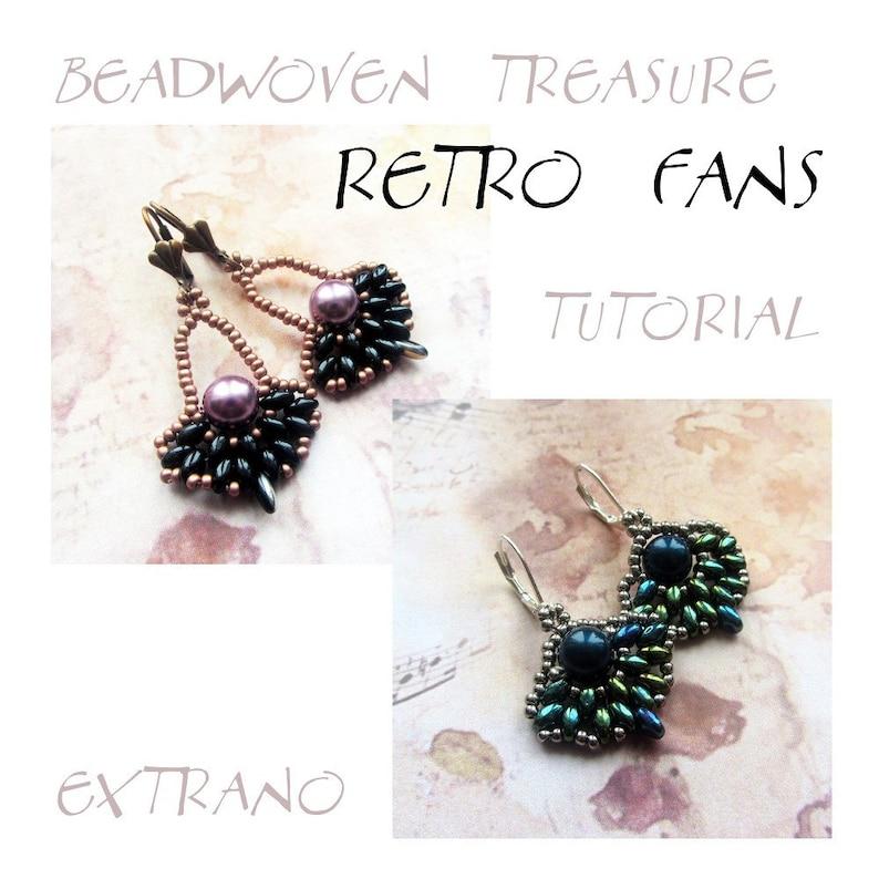 Superduo earrings tutorial fan earrings pattern superduo image 0