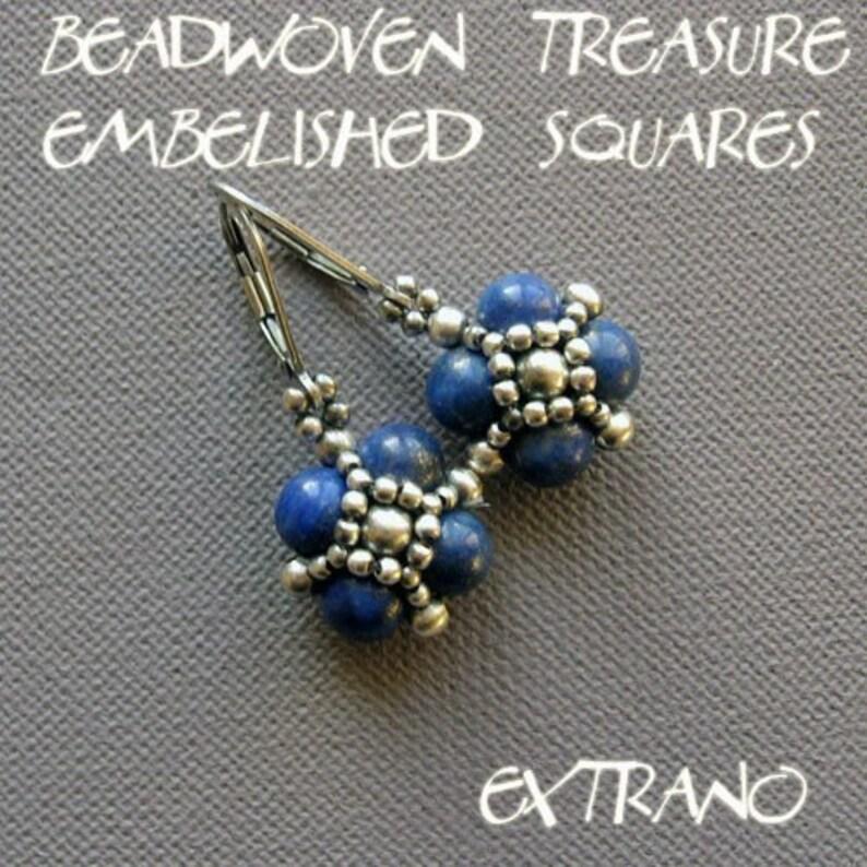 Beaded bead tutorial beaded bead earrings beaded jewelry image 0