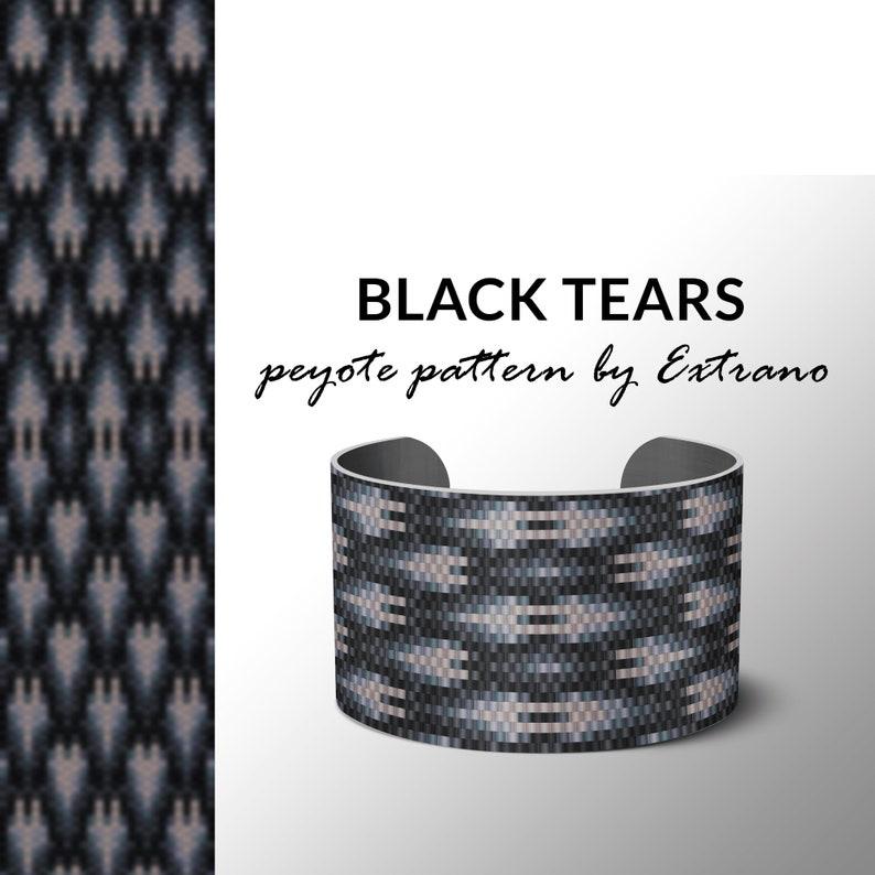 Peyote bracelet design odd count peyote stitch pattern pdf image 0
