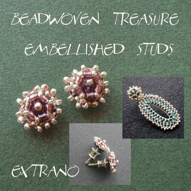 Studs tutorial embroidered earrings tutorial seed beads image 0