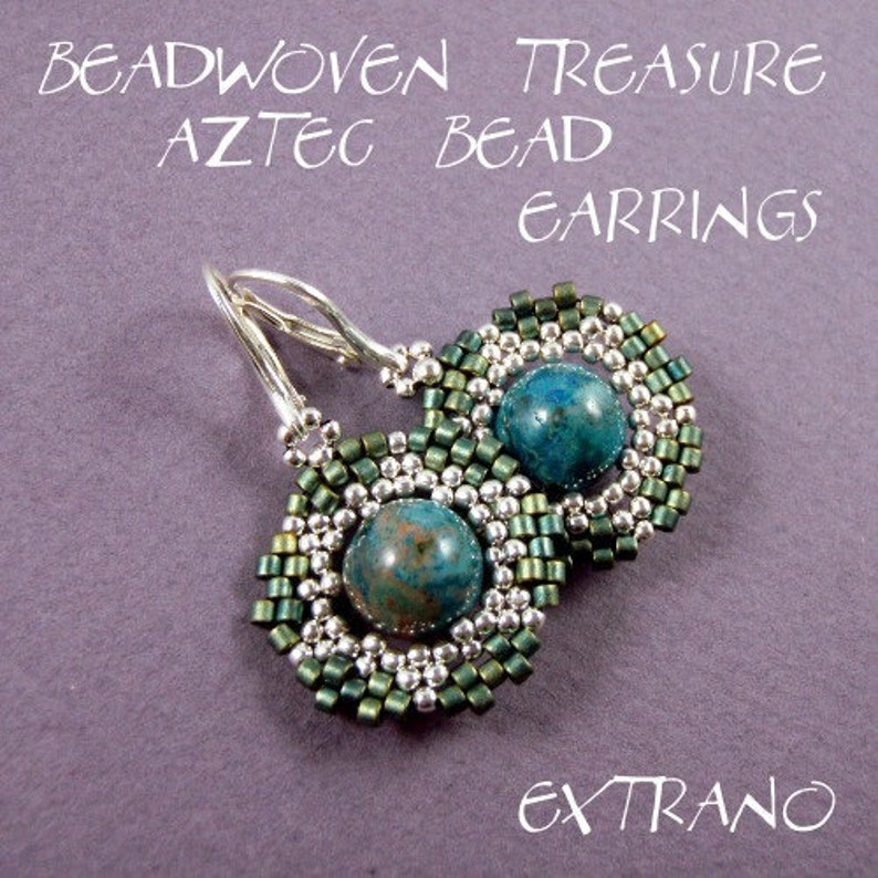 Peyote earrings tutorial beaded earrings tutorial seed beads image 0