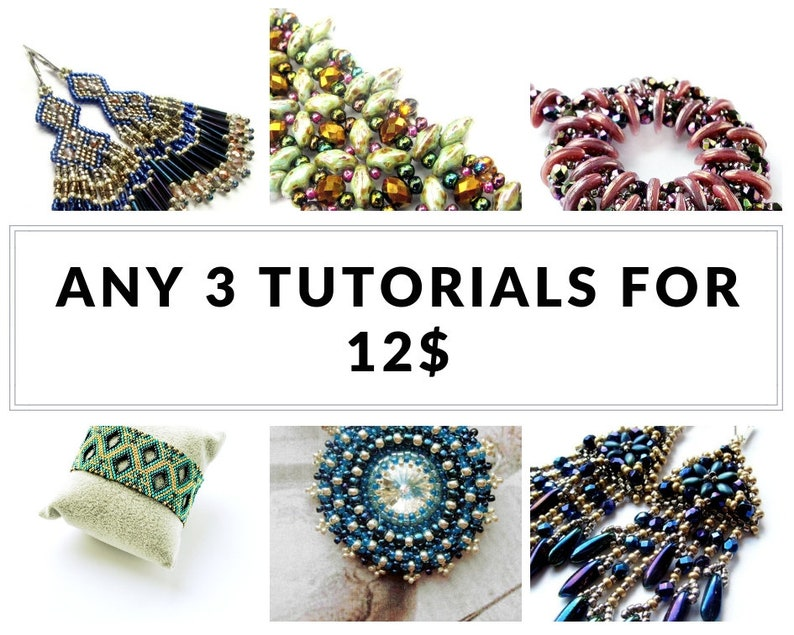 Bracelet tutorials earrings tutorials bulk discount Buy ANY image 0