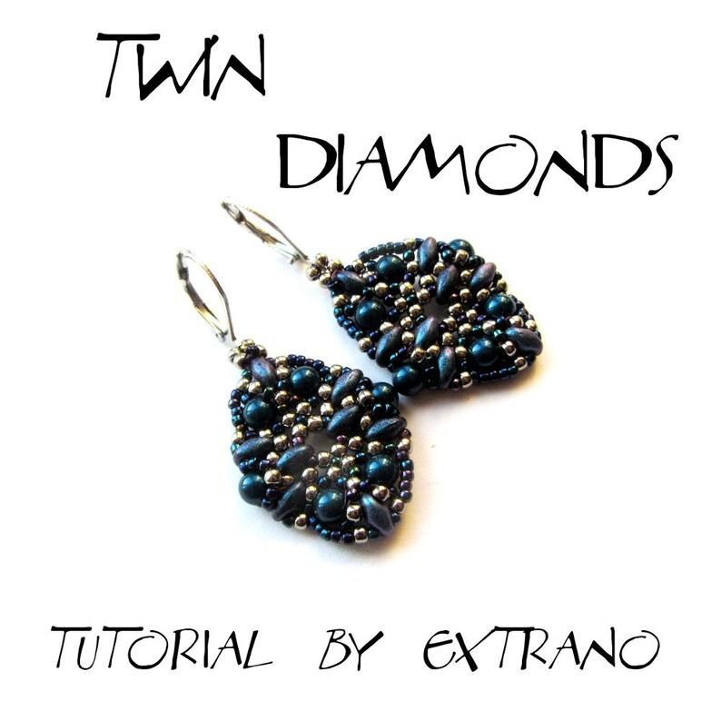 Superduo earrings tutorial seed bead earrings earrings image 0